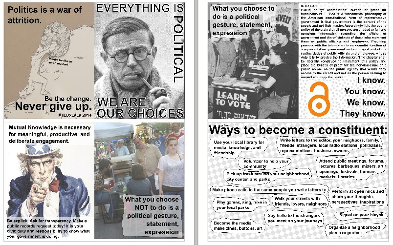 TEDxLafayette - Everything We Do and Don't Do is Political Zine Screenshot
