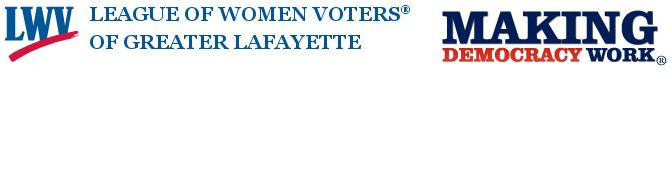 League of Women Voters of Greater Lafayette Header