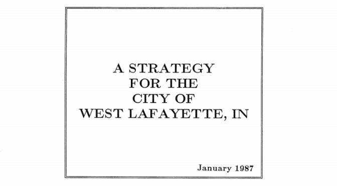 Strategic Plan 1987 Cover Page
